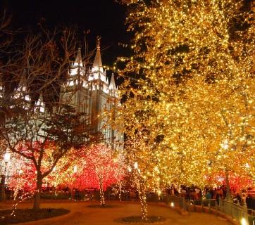 Temple Square es la sede mundial de la Iglesia de Jesucristo.
